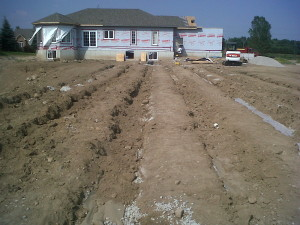extended leaching bed septic system