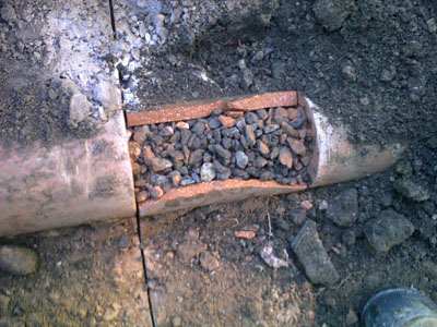 Clay Tile Sewer Line Repair Clay Sewer Pipe Cleanout Kana