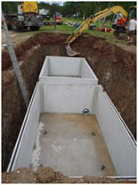 holding-tank septic system
