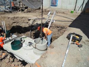 Setting Concrete Risers