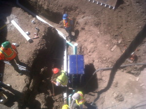 5 Connecting Oil Interceptor to Sewer upstream from Septic Tank